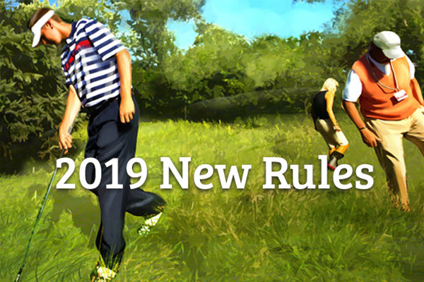 Image result for golf rule changes 2019